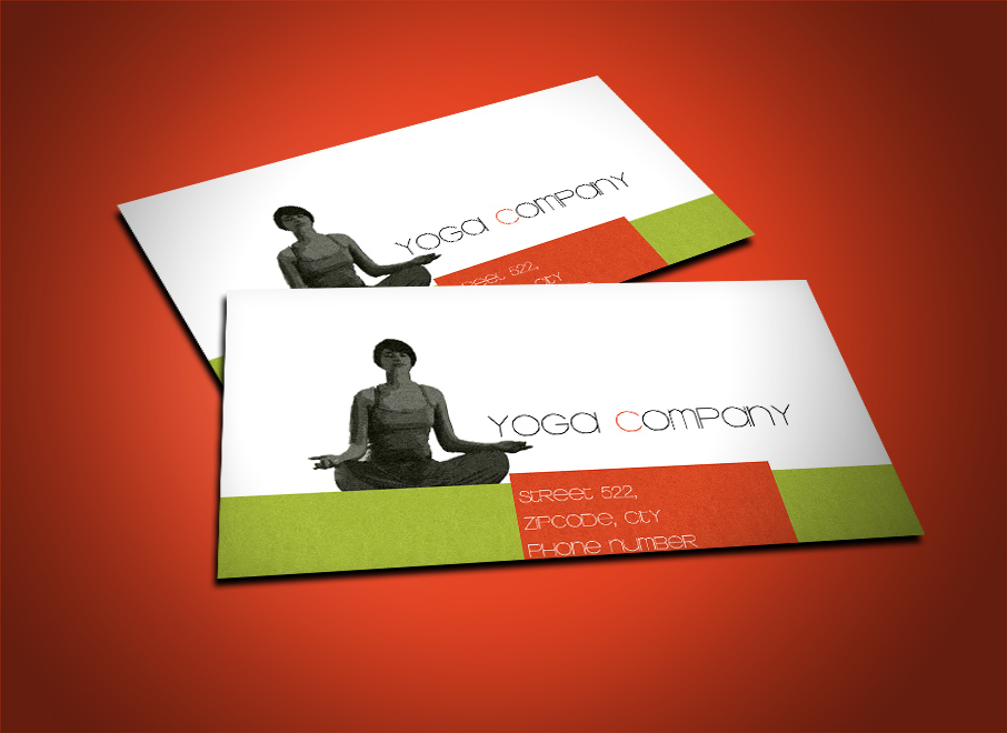 Free yoga business cards template | Free business card templates