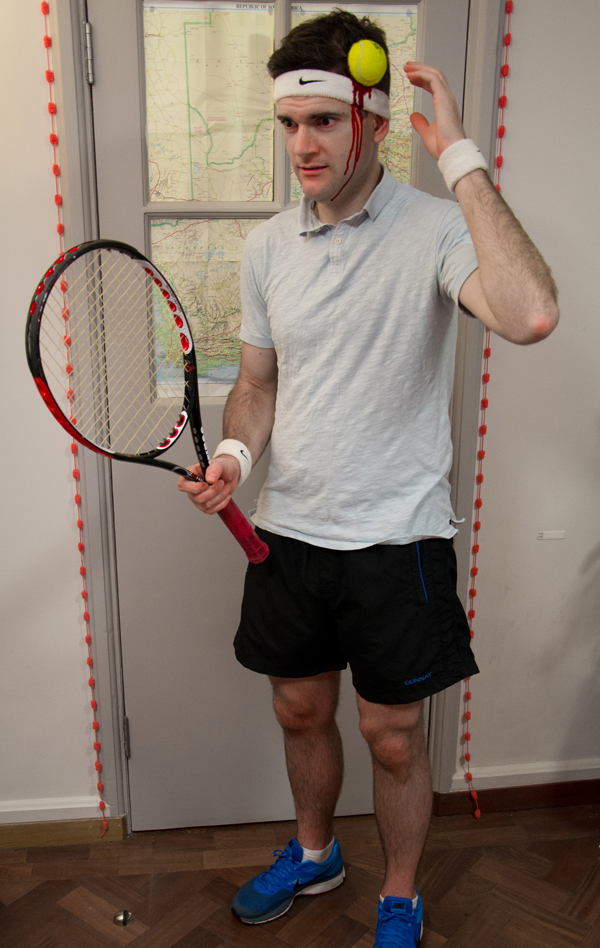 DIY budget Zombie Tennis Player sporty halloween costume fancy dress outfit