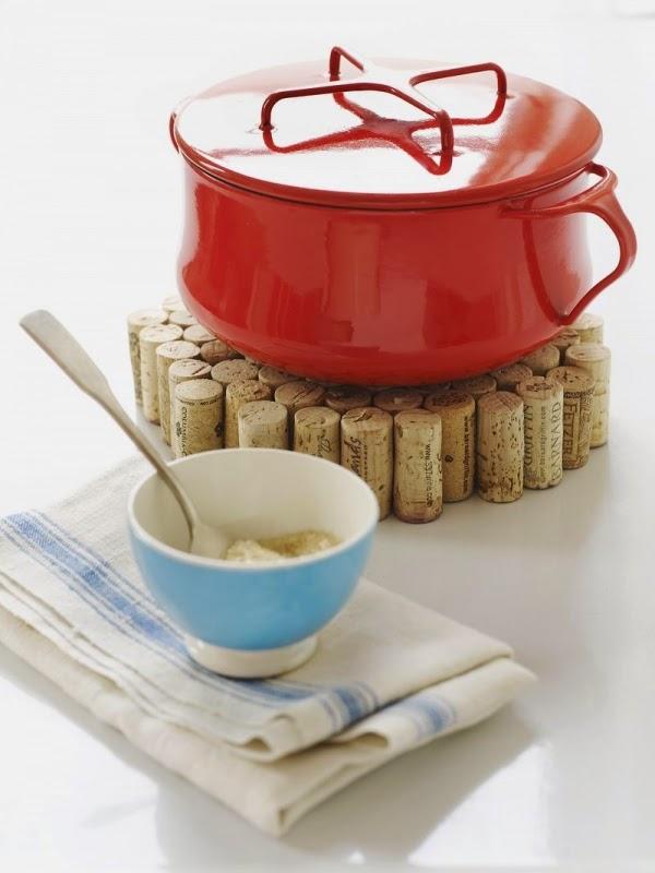 DIY: Original soporte para cazuelas calientes hecho con corchos