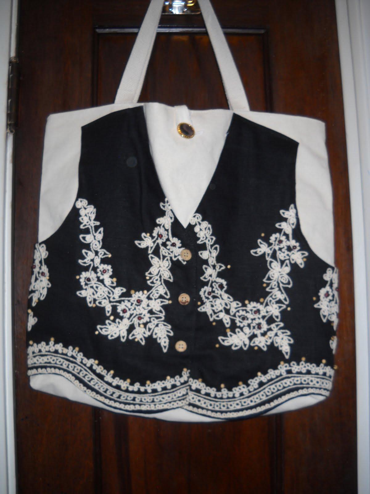 Black Vest on Cream Canvas