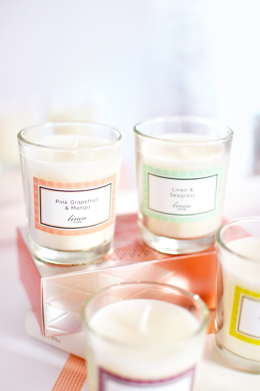 linea candles from house of fraser