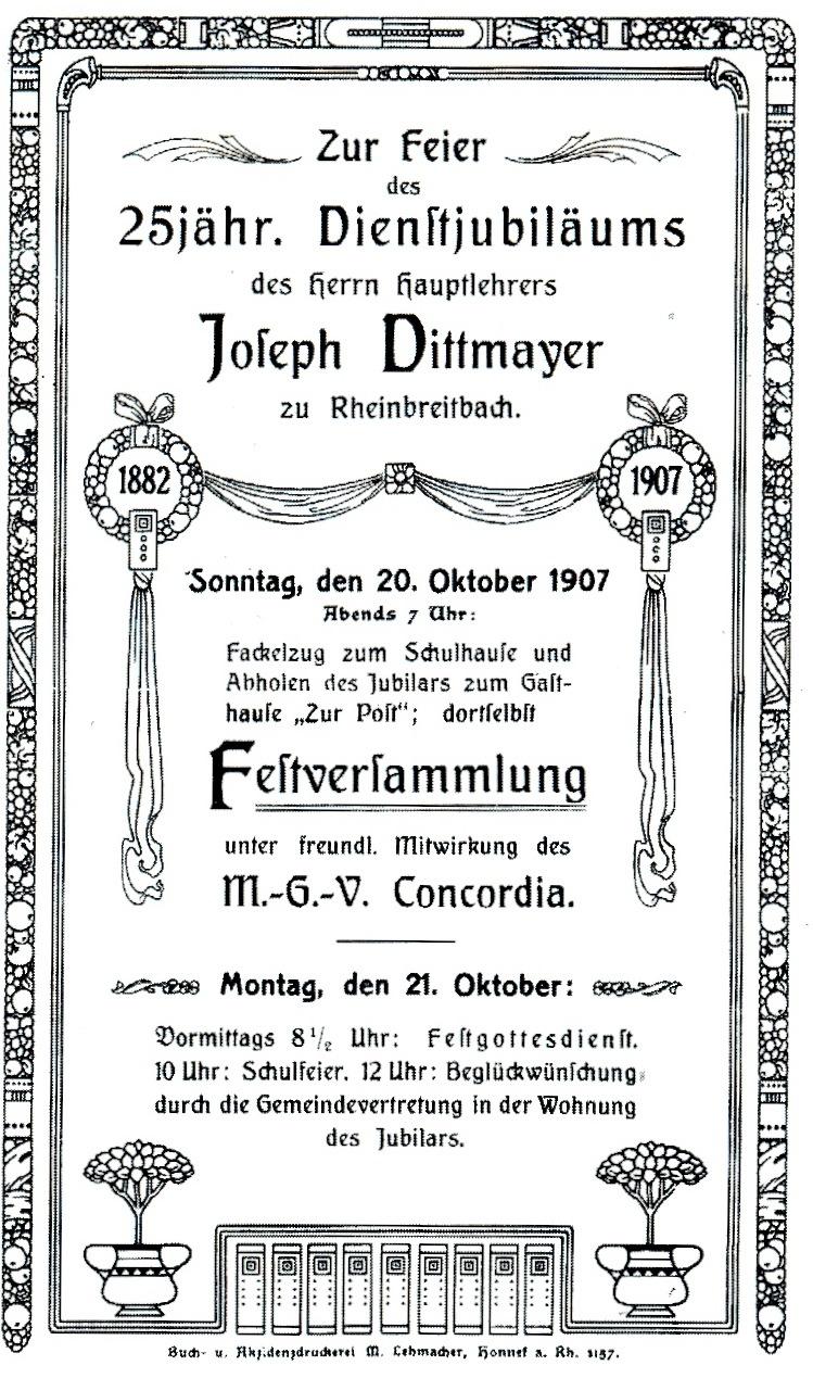 weindorf rheinbreitbach: zur post, Einladung
