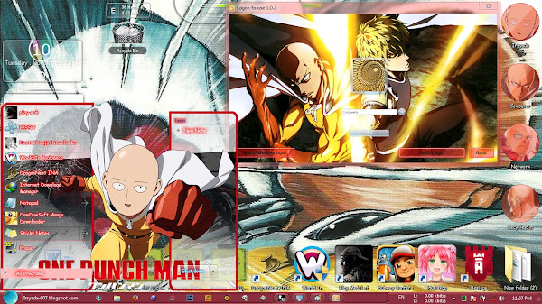/ theme windows 7 / one punch man 2