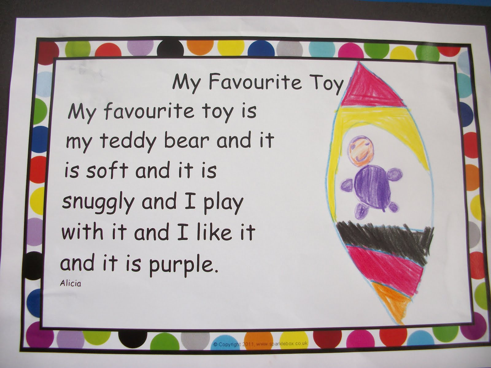 favorite toy teddy bear essay