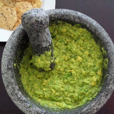 Quick & Easy Guacamole:  A four ingredient guacamole with a wonderful flavor that's ready in no time.  So simple anyone can make it.