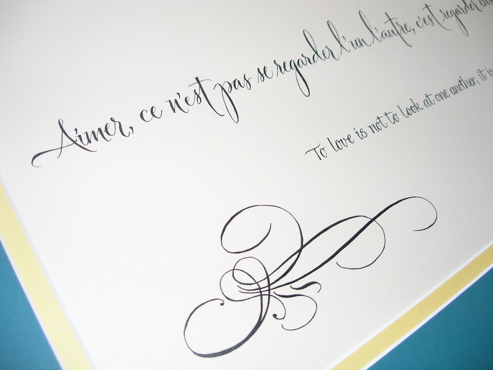 Wedding Calligraphy By Jane Farr French Quote For A