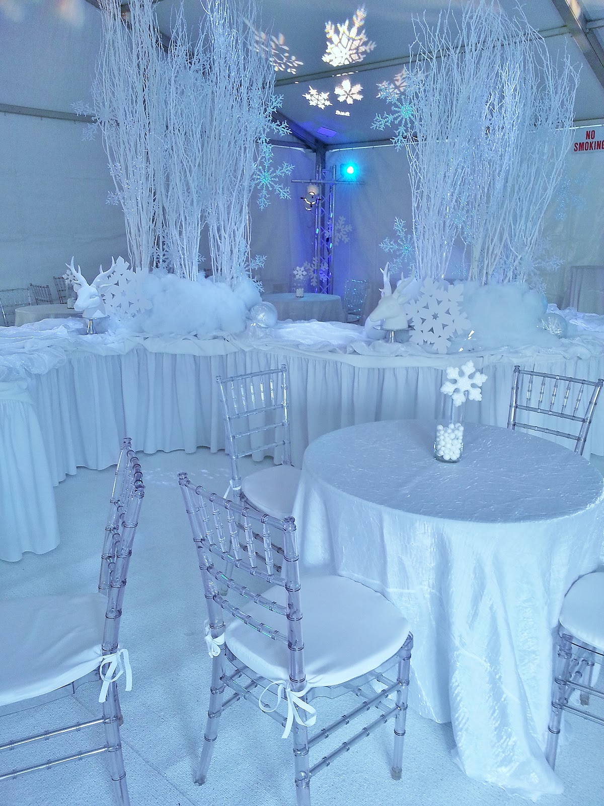 We created a winter white wonderland for a local jewelry store holiday open house. We went with an all white theme. There is something so dramatic about ... & winter wonderland party | Setting The Mood