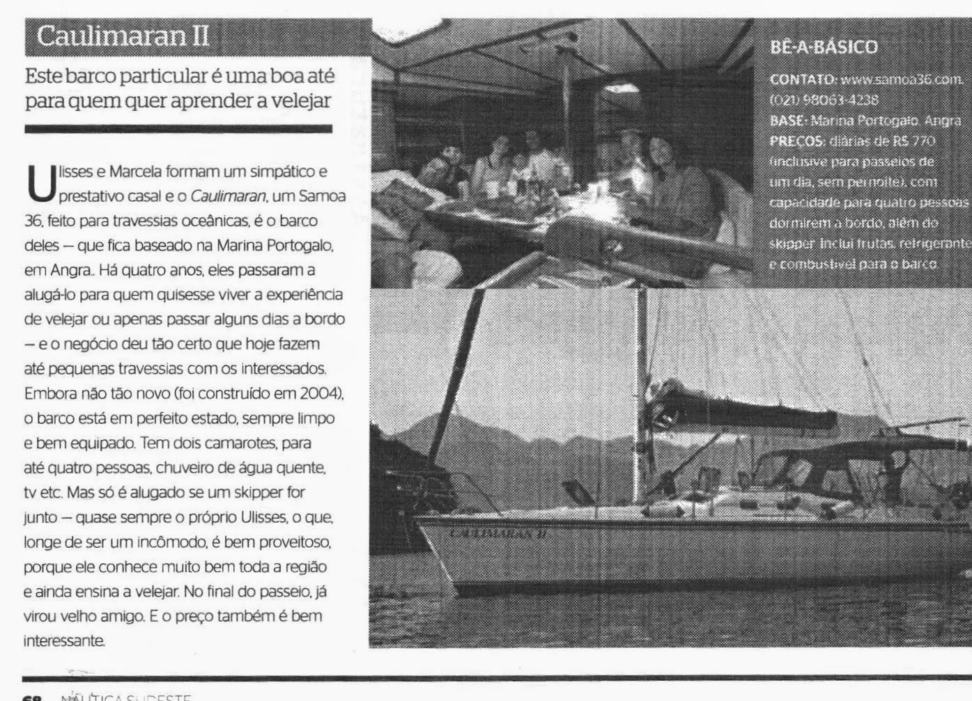 Reportagem Revista Náutica