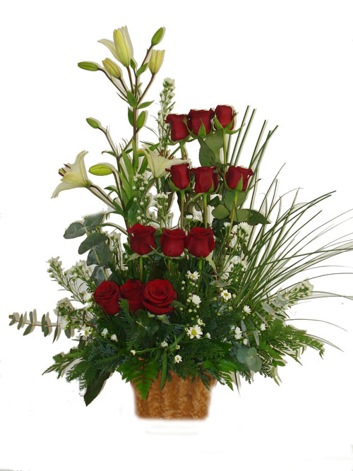 theflowerspot  variedad de arreglos rosas rojas