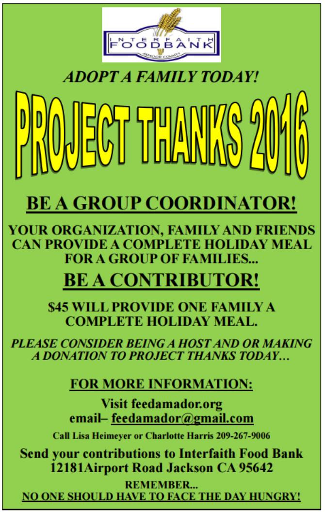 PROJECT THANKS 2016