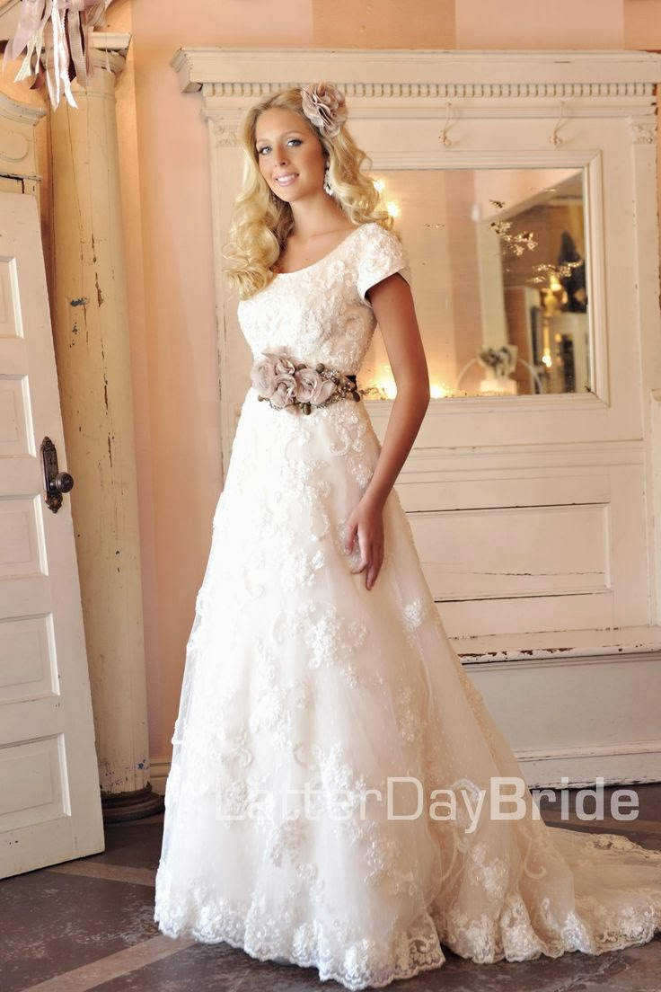 Modest wedding dresses latter day allure david for Wedding dresses for country wedding