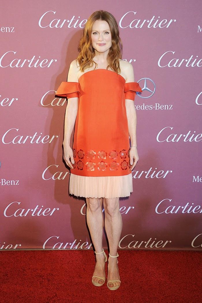 Julianne Moore Wearing a Statement Red Dress by Delpozo