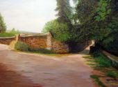 Camino junto a muralla de Covarrubias