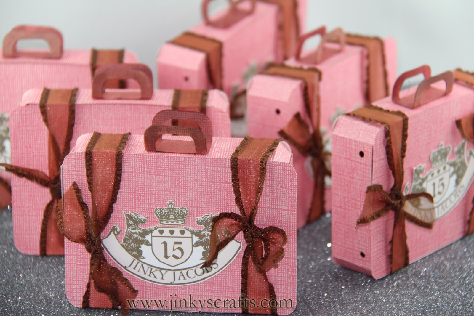 Jinky\'s Crafts & Designs: Juicy Couture Inspired Suitcase Party Favors