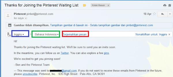 Fitur Translate Email Gmail Terbaru