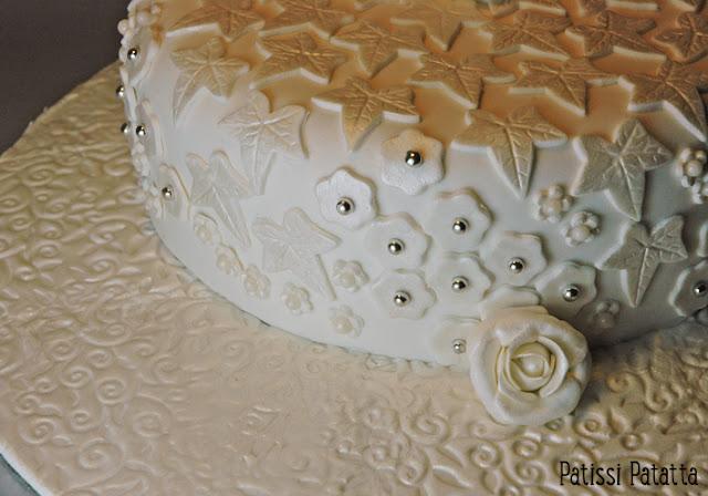cake design, gâteau blanc et argent, pâte à sucre, fondant, gâteau nutella et maltesers, gâteau régressif, gâteau élégant, gâteau rigolo, gâteau 3D