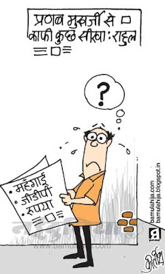 rahul gandhi cartoon, congress cartoon, pranab mukharjee cartoon, inflation cartoon, GDP Cartoon, indian political cartoon