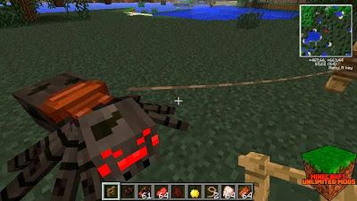 Araña domada Minecraft