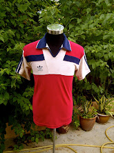 SUPER RARE VINTAGE ADIDAS KAIN TUALA 50/50 COLLAR SHIRT very nice colour (1)
