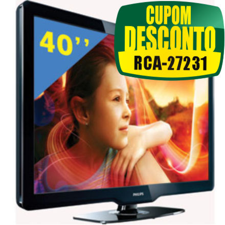 Cupom Efácil - TV 40 LCD Full HD Philips 40PFL3606D