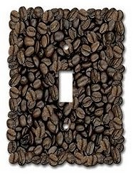 coffee light switch cover java wall art latte beans - Coffee Themed Kitchen Decor