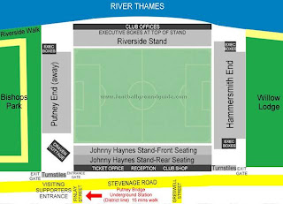 Craven Cottage Stadium seating charts