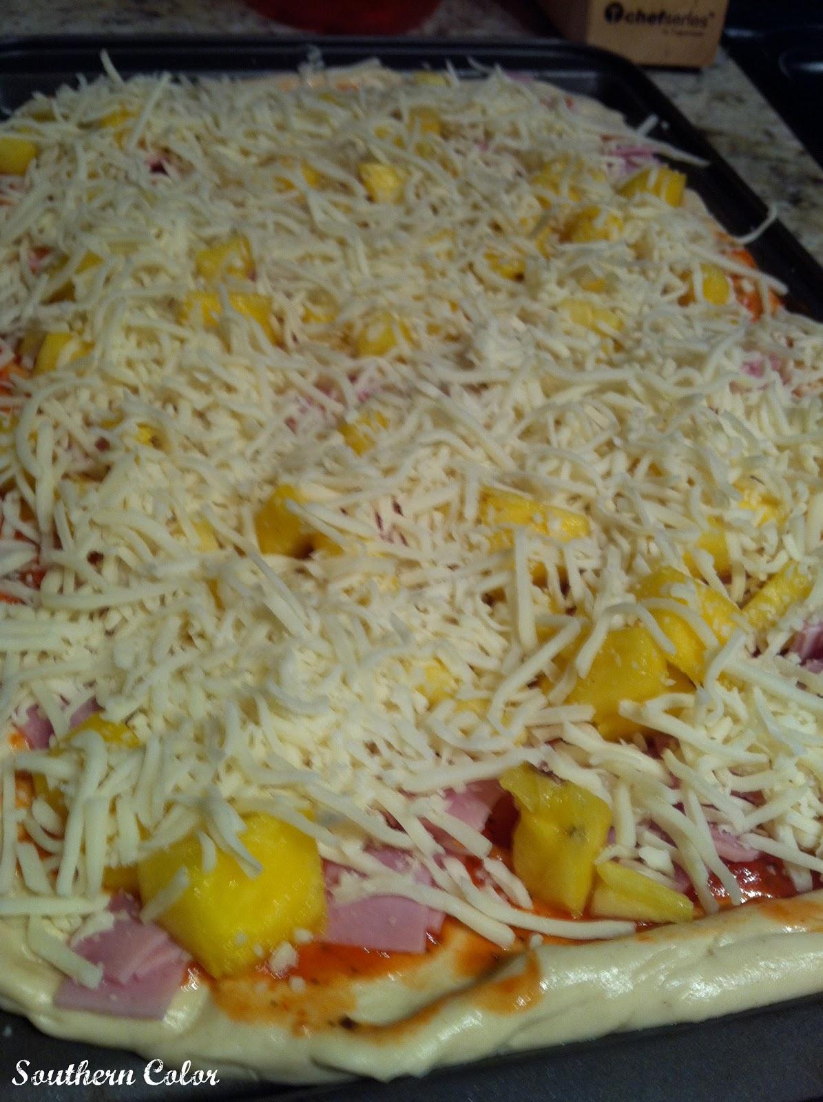how to make homemade hawaiian pizza