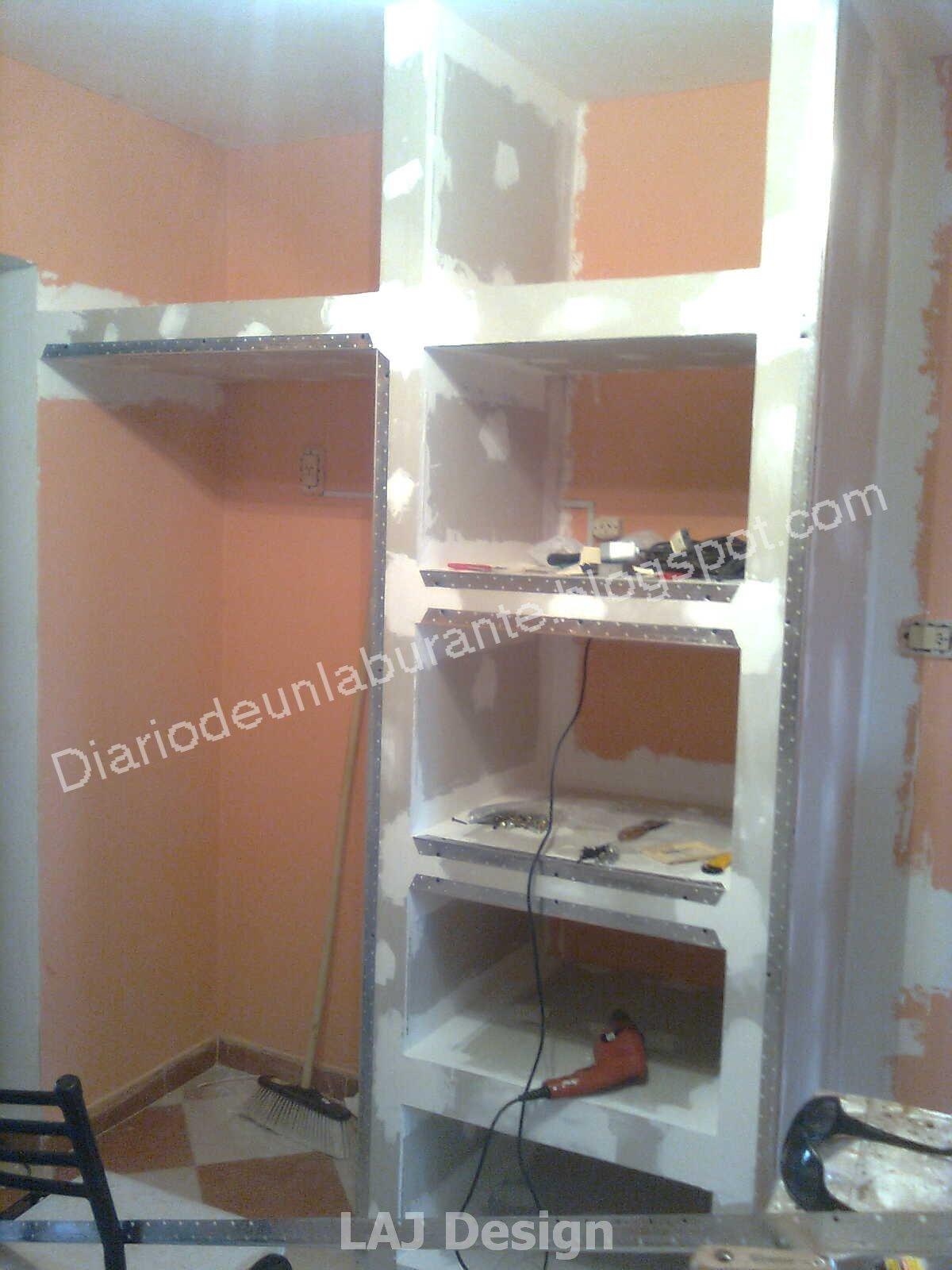 Diario de un Laburante: Mueble durlock en la cocina. Parte 1 #825C49 1200x1600