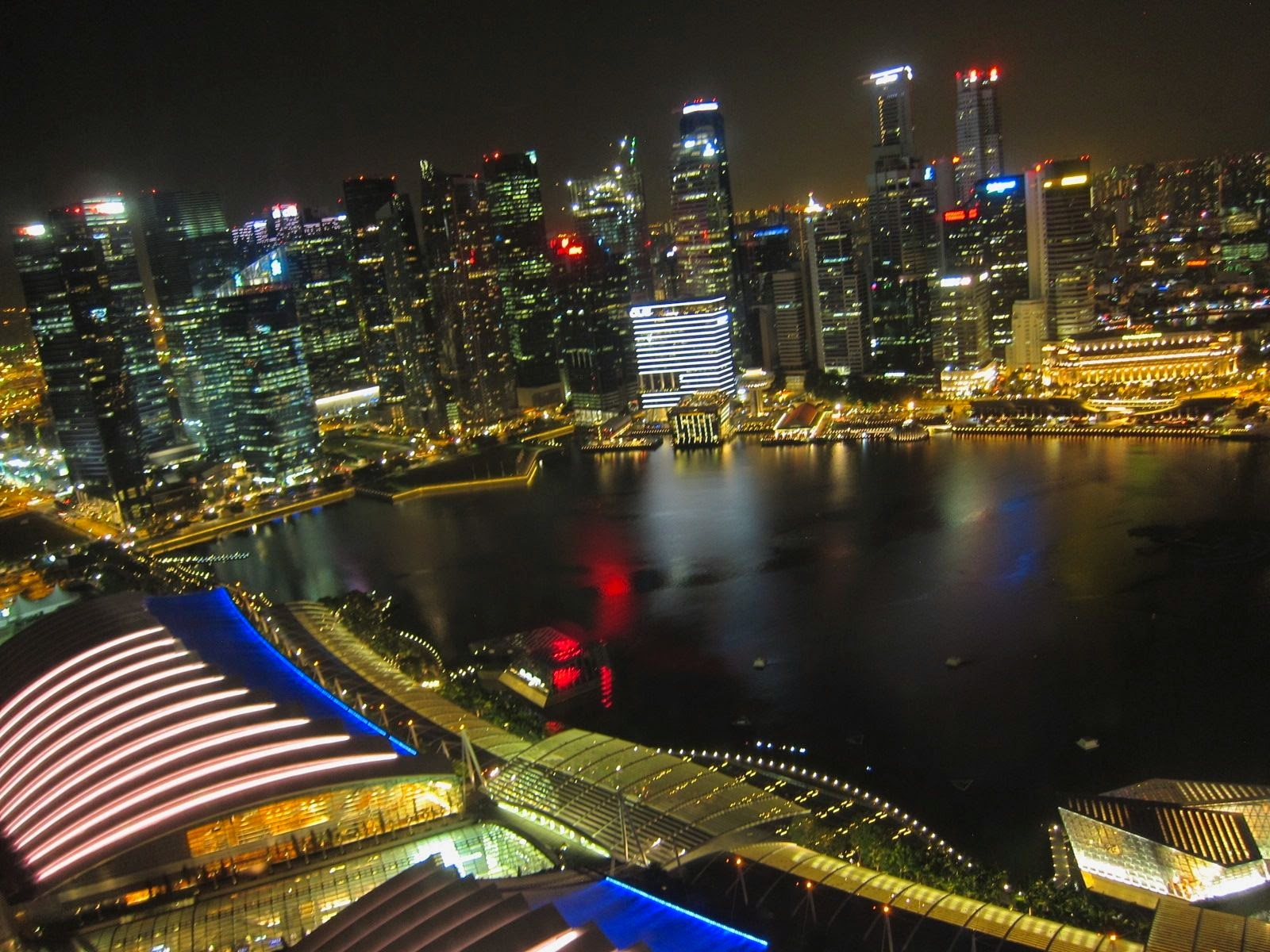 Singapore from the 53rd floor of the Marina Bay Sands