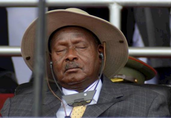 Perezida Museveni we ntazi iyo biva n'iyo bigana
