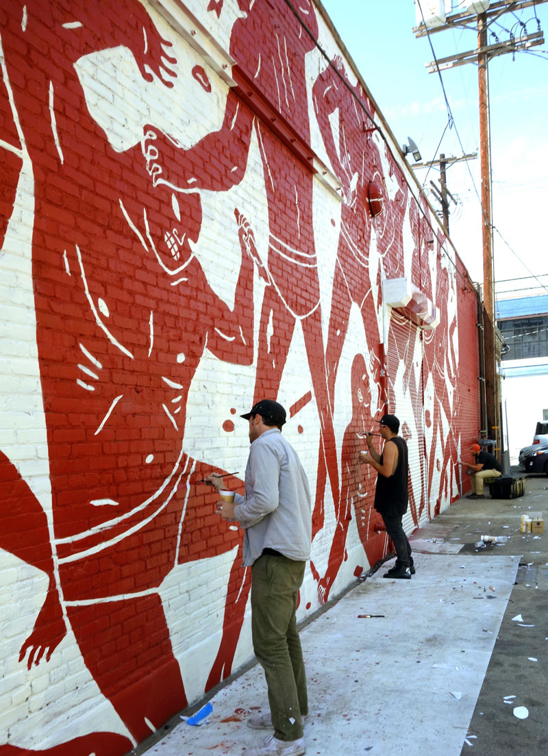 pintura mural de Cleon Peterson