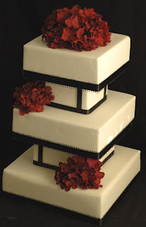 Luxurious Square Fondant Birthday Cake