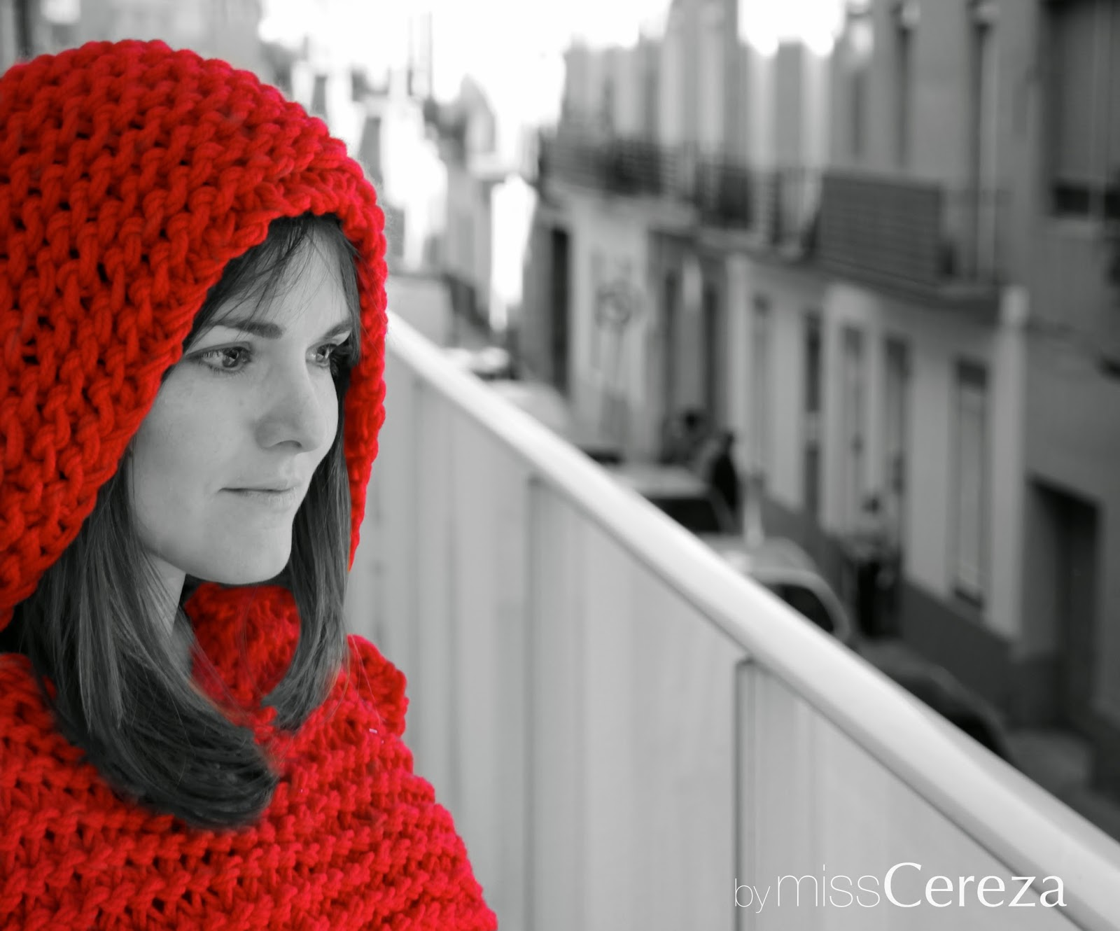 Capucha roja we are knitters