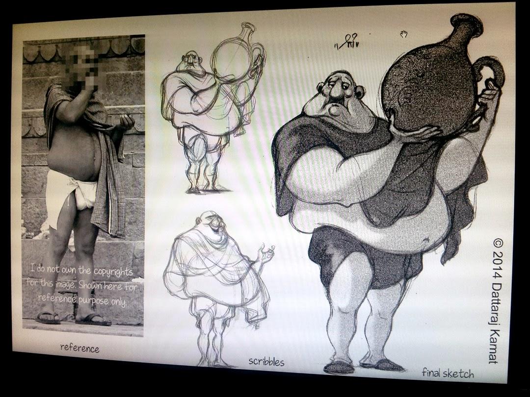 Character Design Principles : Dattaraj kamat animation art character design from a