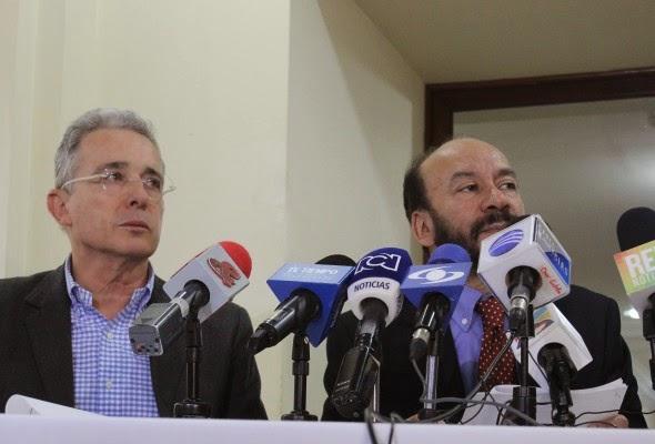 Álvaro Uribe Vélez y Alfredo Rangel