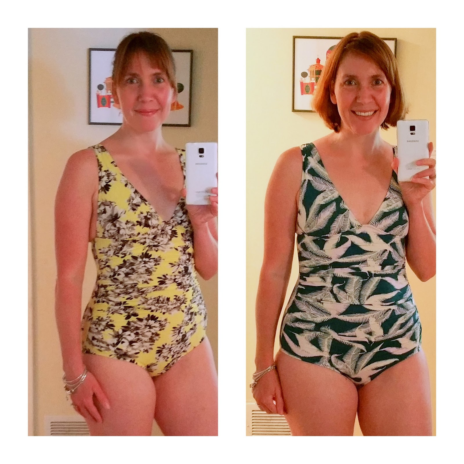 cc98ebc549 Tropical Fern Ruched Femme One Piece Suit (at right). I have been  purchasing these suits for years now. The one on the left is from last  summer