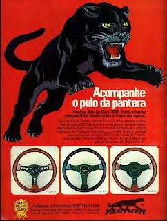 propaganda volantes Panther - 1976.  brazilian advertising cars in the 70. os anos 70. história da década de 70; Brazil in the 70s; propaganda carros anos 70; Oswaldo Hernandez;