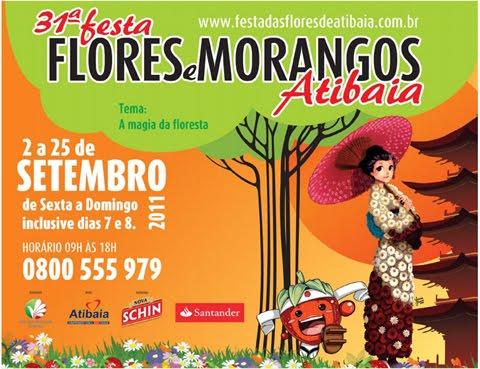 APRESENTAÇÃO NA 31ª FESTA DAS FLORES E MORANGOS - ATIBAIA - SP