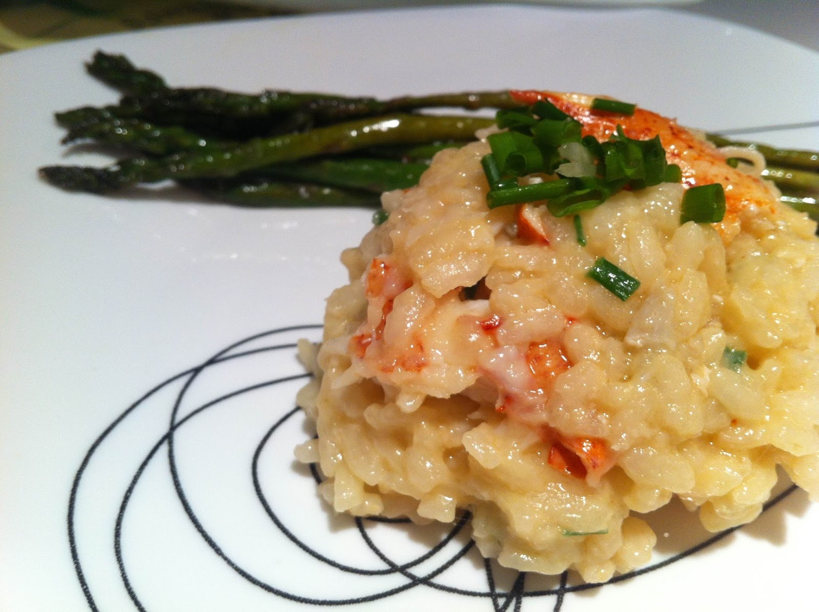 Drop Dead Delicious: Lobster Risotto With Grilled Asparagus