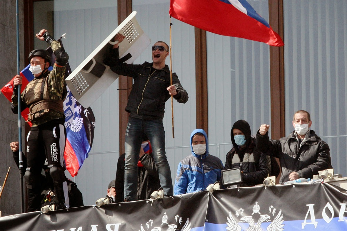 Pro-Russian Activists in DONETSK - 7 April 2014
