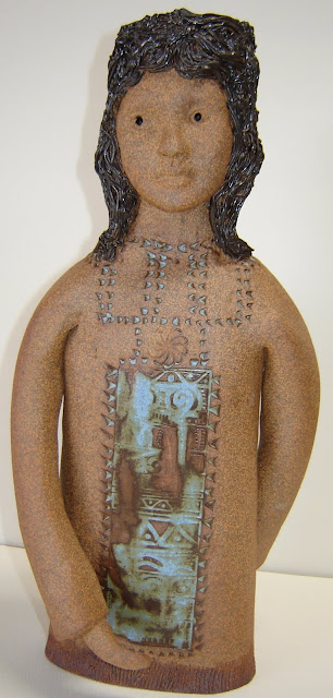 2 Headed Indian Girl Candlestick