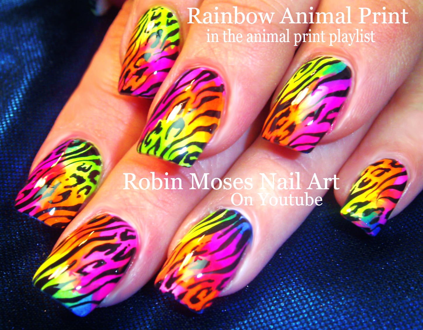 Robin moses nail art lime green nails with rainbow animal print cool nails animal print playlist easy nail art tutorials diy zebra leopard tiger designs prints prinsesfo Image collections