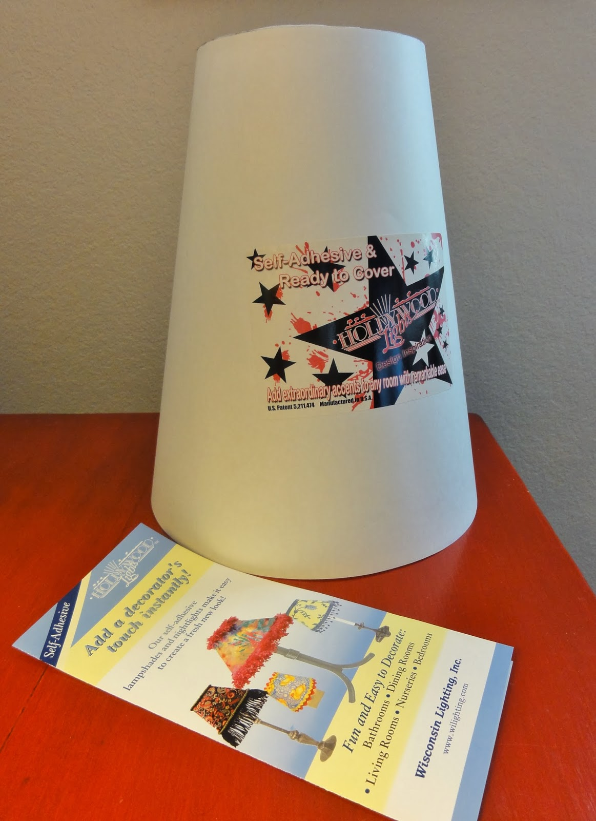 Salmagundi using self adhesive lampshades and an alabaster lamp they have shades with lots of options for fabric and paper covering but they also have an option for self adhesivehollywood lights aloadofball Choice Image
