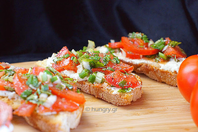 Crostini with Whipped Feta and Tomatoes