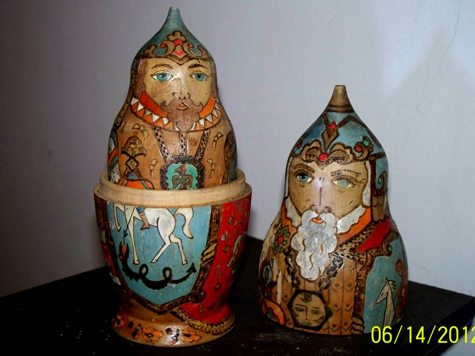 Antique Matryoshka - 2pcs, signed
