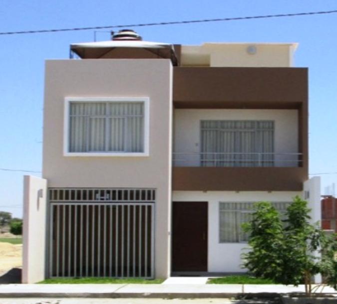 Fachadas y casas casas con frentes de seis metros for Fachadas de casas de dos pisos sencillas
