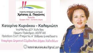 Κατερίνα Κυριάκου Καλαμιώτη υποψήφια δημοτική σύμβουλος Δήμου Χαλκιδέων