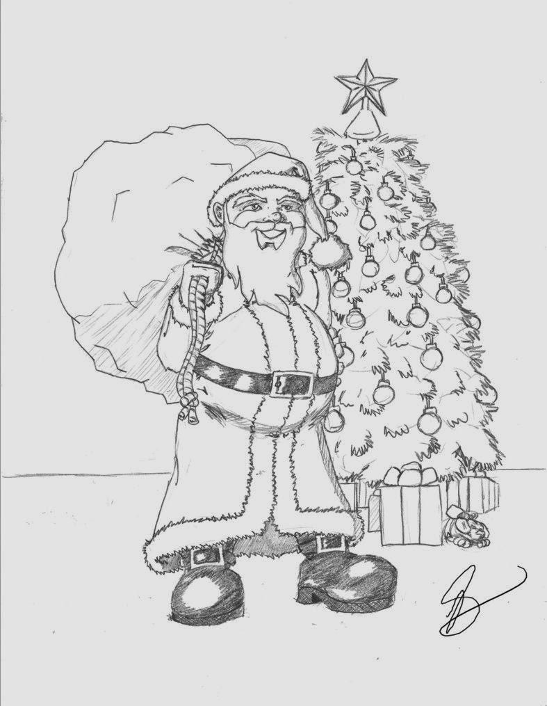 Christmas Sketch Wallpapers - HD Wallpapers Blog