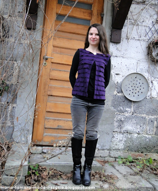 kamizelka damska z falbanami