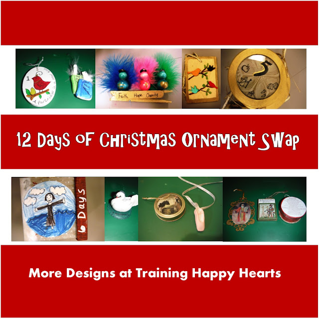http://traininghappyhearts.blogspot.com/2015/12/12-days-of-christas-ornament-swap.html